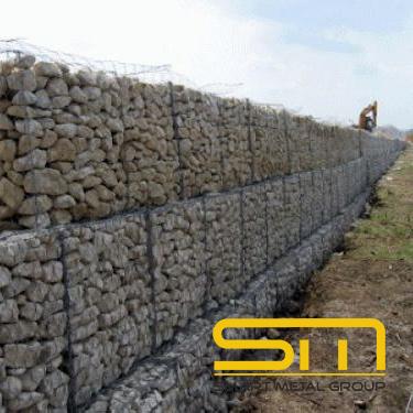 Плетен габион - изграждане на подпорни стени - Смарт Метал Груп